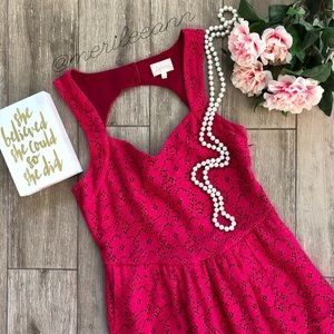 Anthropologie Deletta Dress Lace Cutout Fit Flare